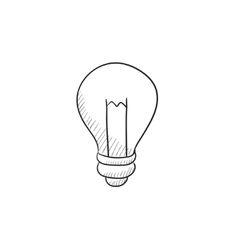 Lightbulb sketch icon vector image