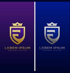 Luxury letter f concept design template vector