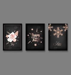 Merry christmas cards with christmas balls 2019 vector