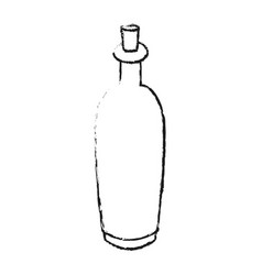 monochrome blurred silhouette with spa bottle with vector image
