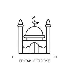 Mosque linear icon vector