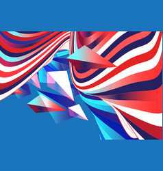 Multicolored striped waves vector