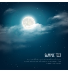 night sky background cloudy sky with shining vector image