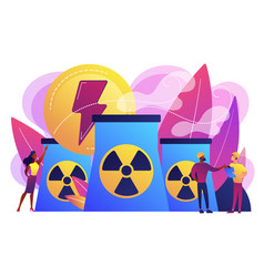 nuclear energy concept vector image