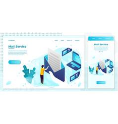 online mailing service open letter web set vector image