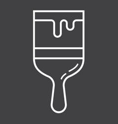 paint brush line icon build and repair paint vector image