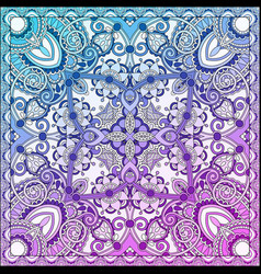 paisley bandanna to print on fabric vector image