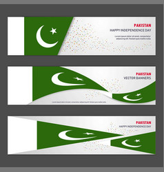 Pakistan independence day abstract background vector