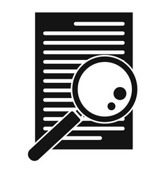 Paper office request icon simple style vector