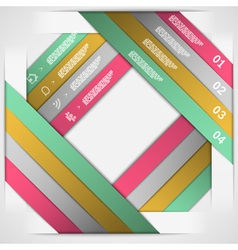 Paper strips choice template vector image