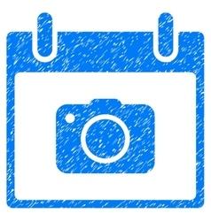 Photo Camera Calendar Day Grainy Texture Icon vector