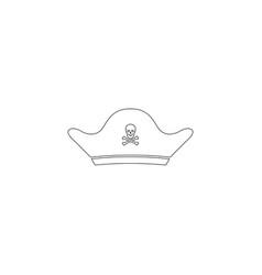 pirate cap flat icon vector image