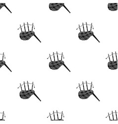 scottish bagpipes icon in black style isolated on vector image