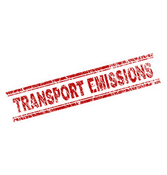 Scratched textured transport emissions stamp seal vector