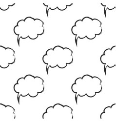 seamless pattern with speech bubbles welcome vector image