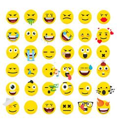 Set of emoticons set of emoji smile icons vector