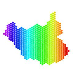 Spectrum hexagon south sudan map vector
