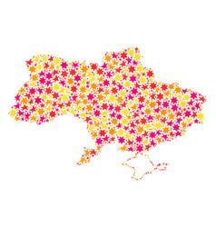 Star mosaic map of ukraine vector