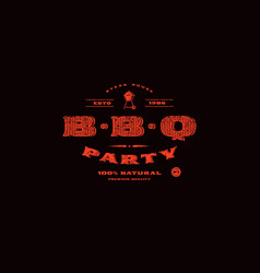 Stock template of bbq party invitation vector