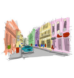 Street sketch for your design vector