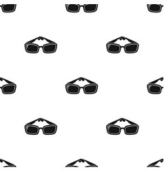 sunglasses icon in black style isolated on white vector image