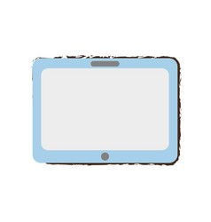 Tablet technology sketch vector