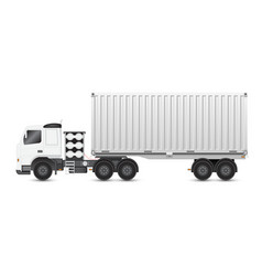 Trailer and container vector