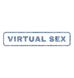 Virtual sex textile stamp vector