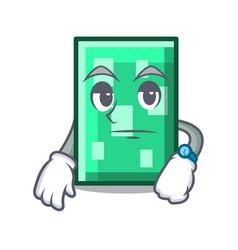 Waiting rectangle mascot cartoon style vector