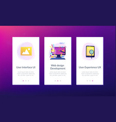 web design development app interface template vector image