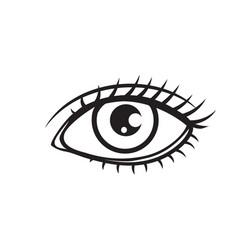 woman eye outline icon vector image