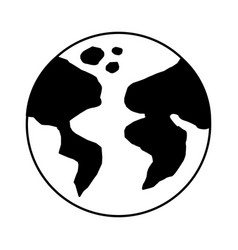 World earth planet icon vector