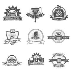 Auto service emblem vector