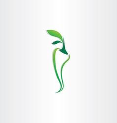 green pepper logo icon design vector image vector image