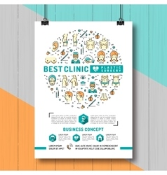 Poster Plastic Surgery Colorful thin line symbols vector image