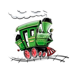retro cartoon locomotive vector image