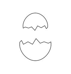 eggshell icon image vector image