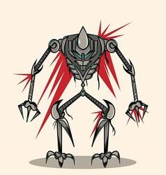 eksoskeleton robot vector image