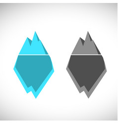 ice berg icon ice berg logo colored vector image