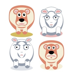 Scared and angry sheeps vector image