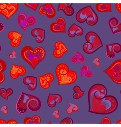 Fun seamless vintage love heart background in vector image