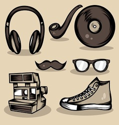 Hipster Stuff Collection vector image vector image