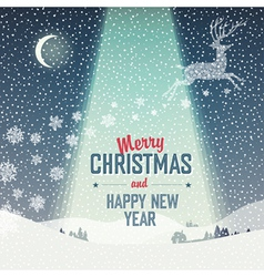 Merry Christmas Card Calm Winter Scene vector image vector image