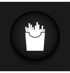 modern French fries black circle icon vector image