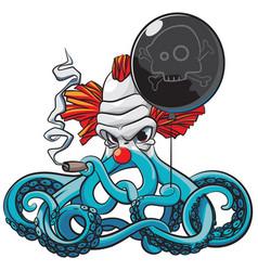 Octopus the bad clown vector