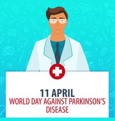 11 april world day against parkinsons disease vector