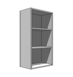 3d image - simple isolated cabinet with shelves vector image