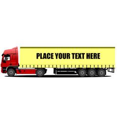 3d trucks lorry vector image