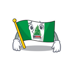 A picture flag norfolk island showing afraid vector