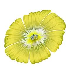 A yellowgreen flower vector
